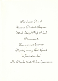 Commencement Card (Inside)