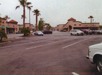 Parking lots and stores at Atlantic Square