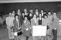 Council members and others in the 1980's