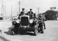 Police and Fire Departments in 1930