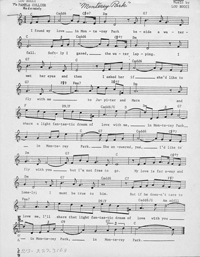 Sheet music for the Song