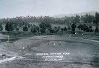 Midwick Country Club Putting Green, photographed February 29, 1928
