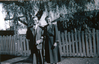 Mr. and Mrs. Frank McGuinness in front of their home at 124 S. Garfield Ave