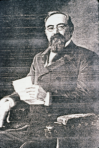 Portrait of Harris Newmark, developer of Montebello who bought part of the Repetto ranch in 1886